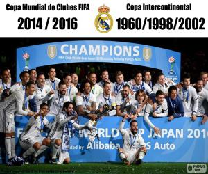 Real Madrid players jubilating.