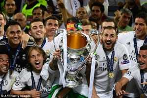 Real Madrid celebrates their 11th champion league victory