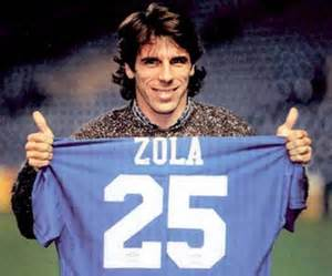 Zola with his Chelsea shirt