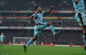 Gray celebrates his goal.